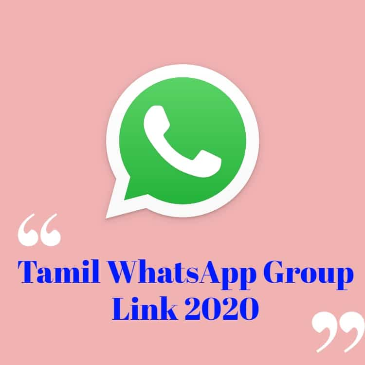 Tamil WhatsApp Group Link 2020