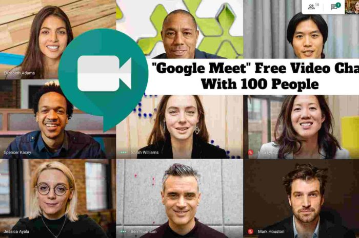"""""""Google Meet"""" Free Video Chat With 100 People"""