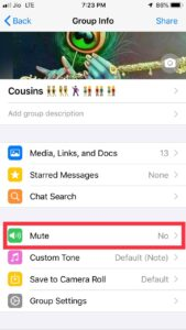 Mute Whatsapp Chat Forever