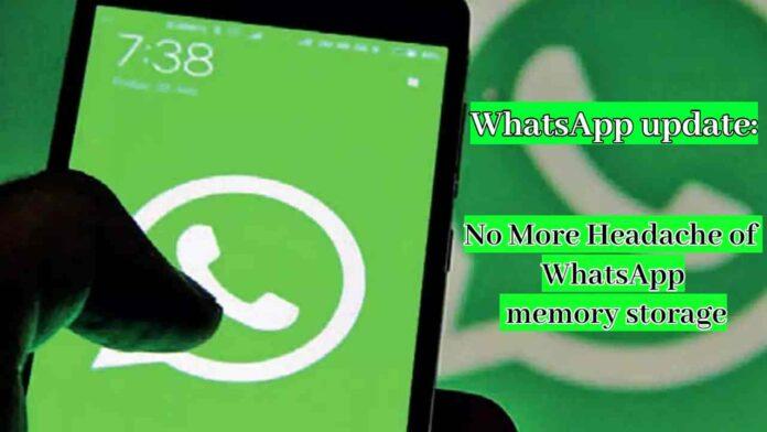 WhatsApp memory storage