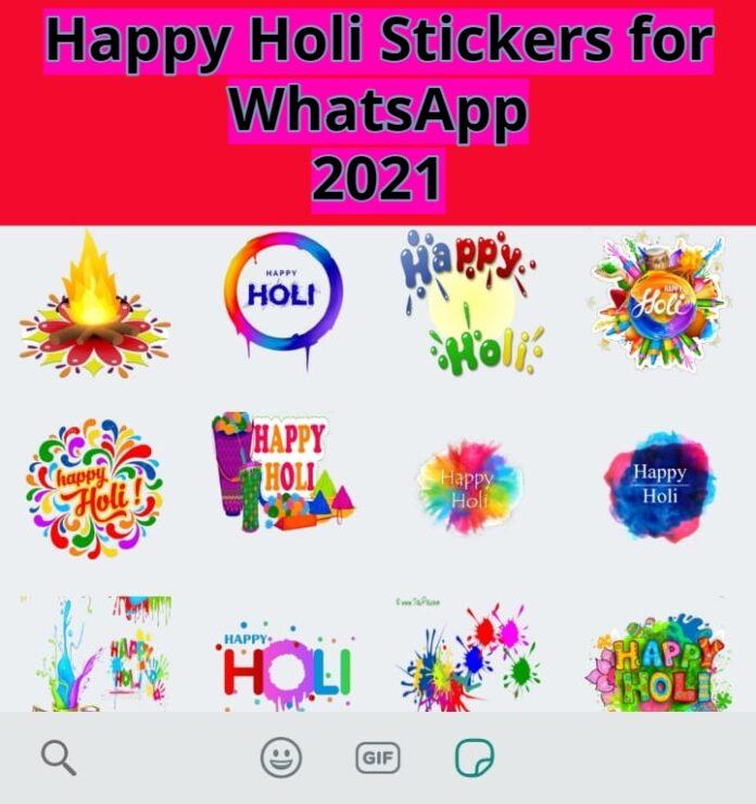 Holi Stickers for WhatsApp